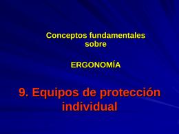 8. Equipos de protección individual
