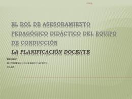 El Rol de Asesoramiento Pedagógico Didáctico del Equipo de