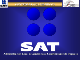 CONTROLES VOLUMETRICOS Administración Local de Asistencia