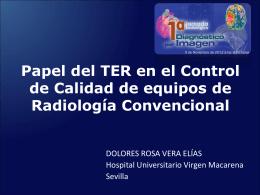Control de calidad en equipo de radiologia convencional Ter