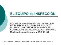 EL EQUIPO de INSPECCIÓN