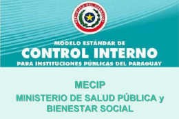 Diapositiva 1 - Ministerio de Salud Pública y Bienestar Social