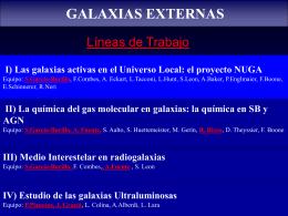Galaxias en el OAN, proyecto NUGA