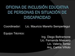 Presentación Ofinina de Inclusión Educativa UNC