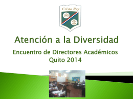 """""""Programa de Educación Inclusiva"""" – Colegio Cristo Rey"""