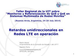 Retardo Unidireccional para LTE