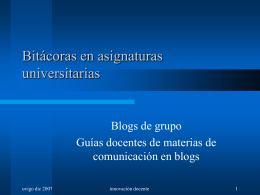 Bitácoras en asignaturas universitarias