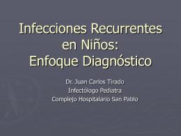Infecciones Recurrentes en Niños