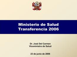 Fuente - Ministerio de Salud
