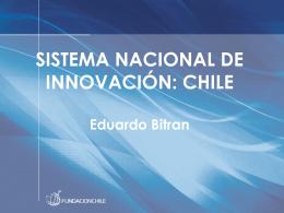 Documento de apoyo Sr. Eduardo Bitrán (Fundación Chile)