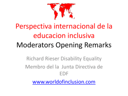 Developing Inclusive Education: An International