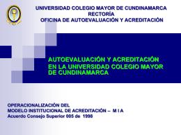 UNIVERSIDAD COLEGIO MAYOR DE CUNDINAMARCA OFICINA
