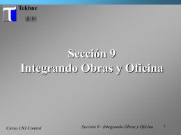 Tutorial CIO Control - Integrando Obras y Oficina