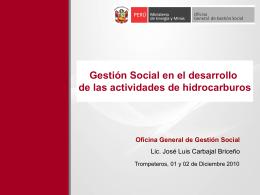 Oficina General de Gestión Social