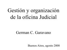 Gestion y organización de la oficina Judicial