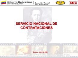 servicio nacional de contrataciones
