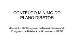 CONTEÚDO MÍNIMO DO PLANO DIRETOR