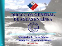 Dirección General de Aguas en Línea
