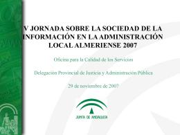 Presentación de PowerPoint - Diputación Provincial de Almería