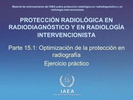 15. Optimización de la protección en radiografía: Parte 1