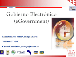 Exposicion eGovernment - UNA Alternativa