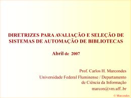 Apresentação - Professores da UFF