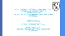 gestión y desarrollo de empresas sociales - FCA