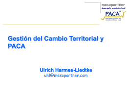 PACA and Territorial Change Management - PACA