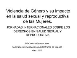Violencia de Género y su impacto en la salud sexual y reproductiva