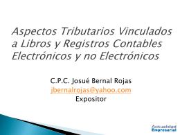 Libros y Registros Contables Electrónicos y no