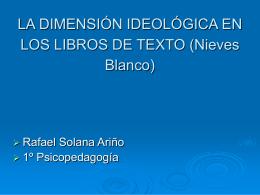 LA DIMENSIÓN IDEOLÓGICA EN LOS LIBROS DE TEXTO (Nieves