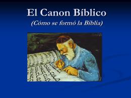 El Canon Bíblico - Iglesia Cristiana La Serena