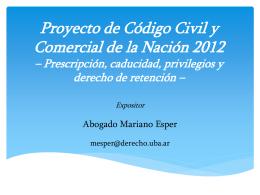 Prof. Esper Prescripción, caducidad y privilegios
