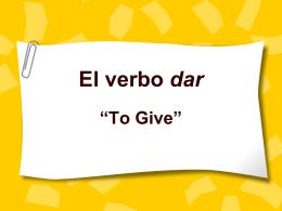 I give