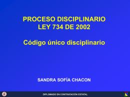 Proceso disciplinario 734
