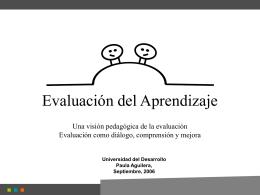 Evaluacion del aprendizaje - Universidad del Desarrollo