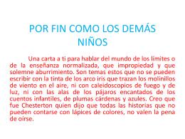 POR FIN COMO LOS DEMÁS NIÑOS 16032015