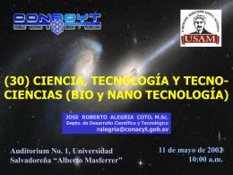 tecnologías emergentes - Consejo Nacional de Ciencia y Tecnología