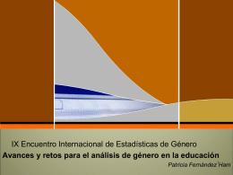 Avances y retos para el análisis de género en la educación