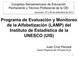 Juan Cruz Perusia. Asesor Regional para América Latina y el