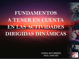 Fundamentos en las actividades dirigidas dinámicas.