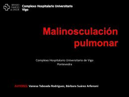 Malinosculación pulmonar