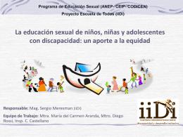 ESI en Educación Especial, Experiencia Uruguay, Sergio