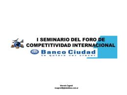 Marcelo Cagnoli - 2 ° Seminario del Foro de Competitividad