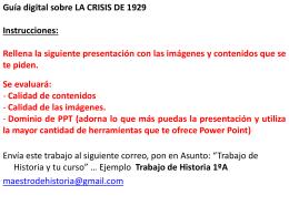 Guía Digital Sobre LA CRISIS DE 1929