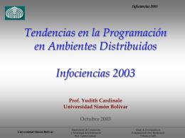 Infociencias 2003 - LDC - Universidad Simón Bolívar