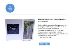 Portaretrato + Reloj + Portalapicero