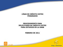 Solicitud de Créditos ICETEX