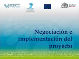 Negociación e implementación