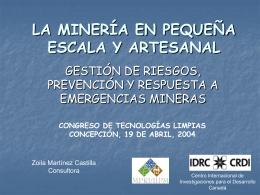 la minería en pequeña escala y artesanal